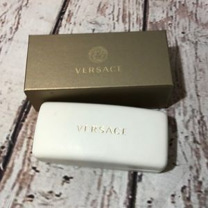 Versace Eyeglass Case Sunglass Hard Box White